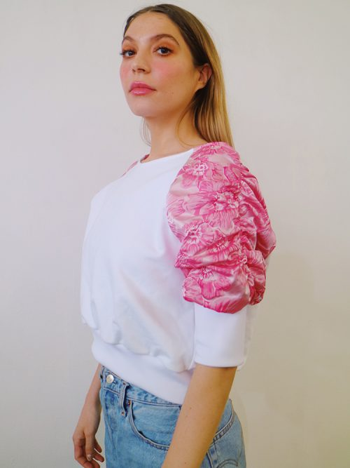 ADIRA White Raglan Sleeve Summer Top | TDS