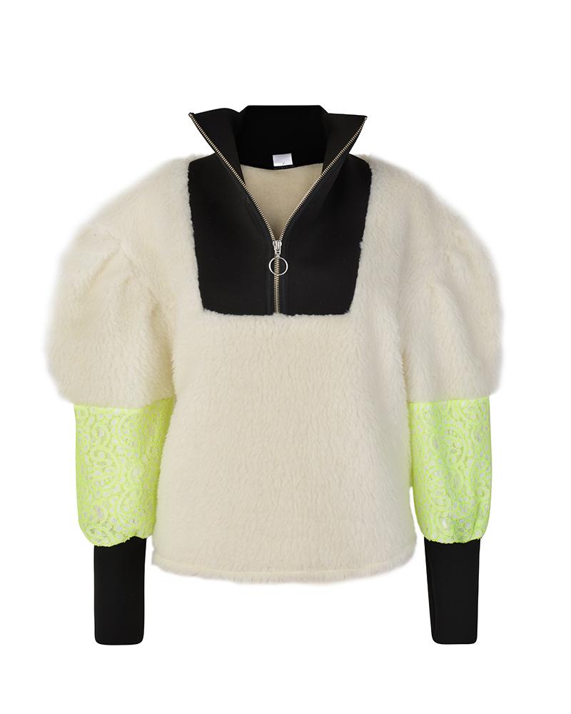 DAISY White Drop Shoulder Sweatshirt | TDS
