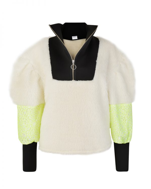 DAISY White Drop Shoulder Sweatshirt | TDS