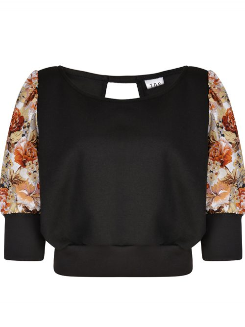 MAYA Black Puff Sleeve Summer Top | TDS