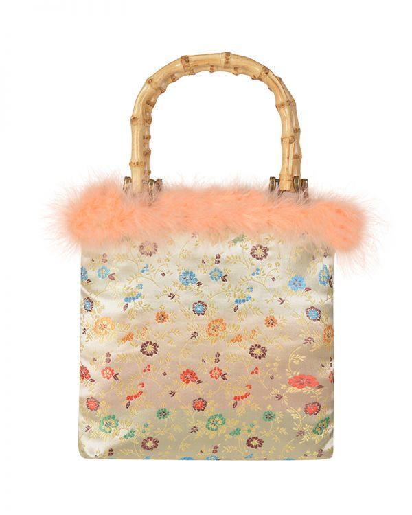 GLYNIS Floral Brocade Tote Bag | TDS