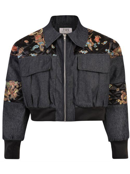 BERDI Denim Women's Bomber Jacket | TDS