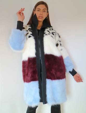 Long Faux Fur Coat for Women   TDS