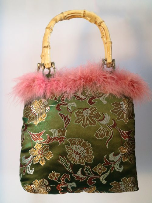 FLORA Green Floral Brocade Tote Bag | TDS