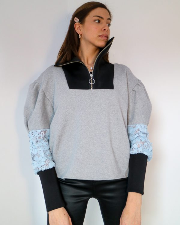 EVIE Grey Drop Shoulder Sweatshirt | TDS