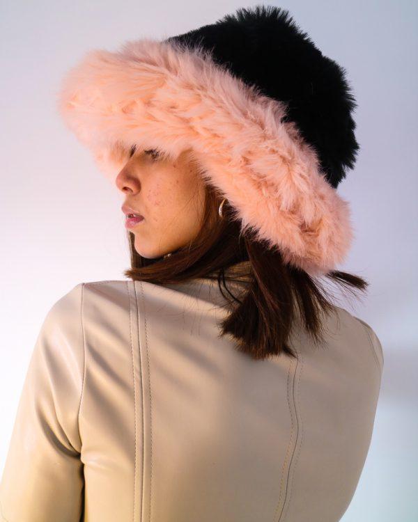 EDIE Pink Faux Fur Hat   TDS
