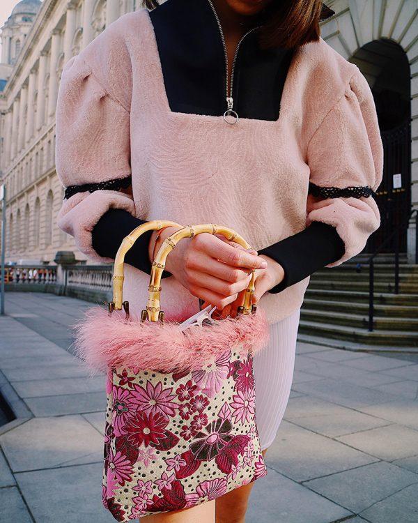 EMI Pink Brocade Tote Bag | TDS