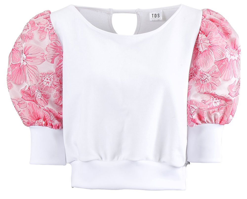 ADELINE White Puff Sleeve Summer Top | TDS