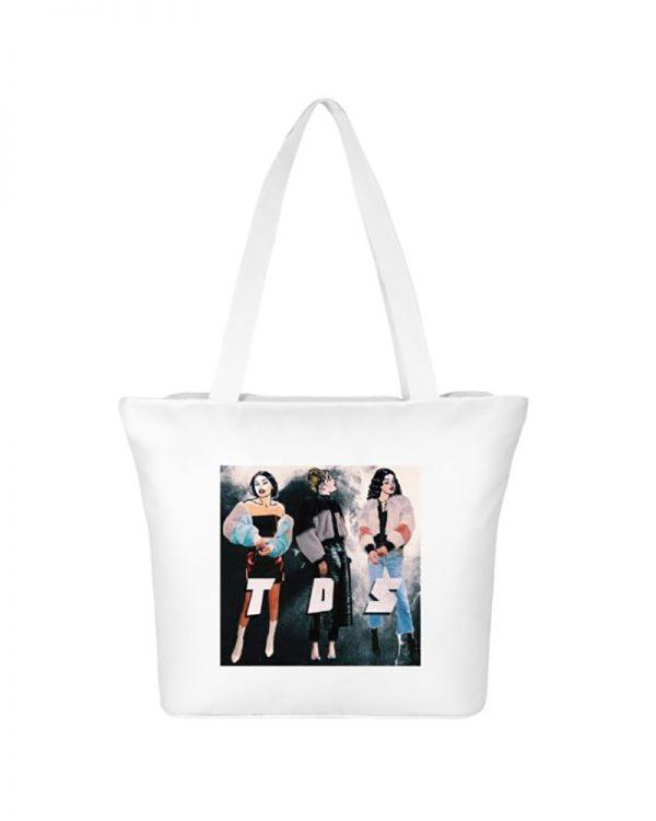 TDS White Tote Bag