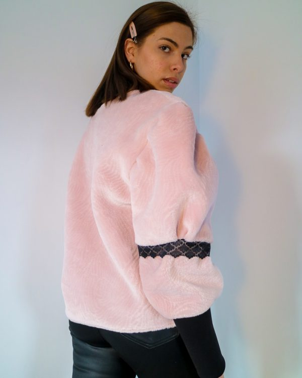 CICI Pink Drop Shoulder Sweatshirt | TDS