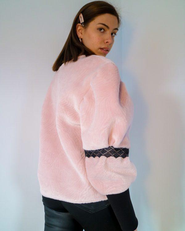 CICI Pink Drop Shoulder Sweatshirt | TDS