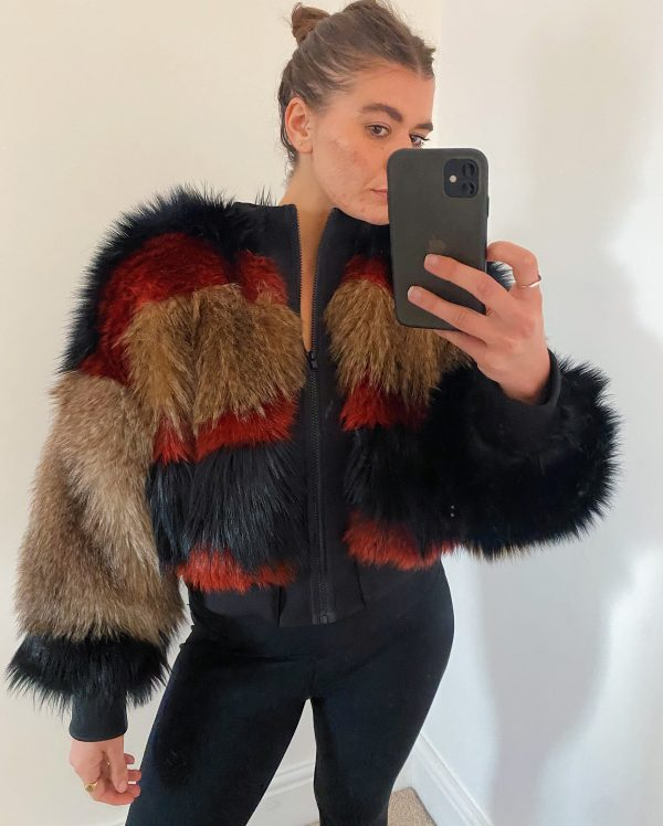 High quality faux fur Jacket 5