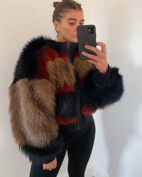High quality faux fur Jacket 6