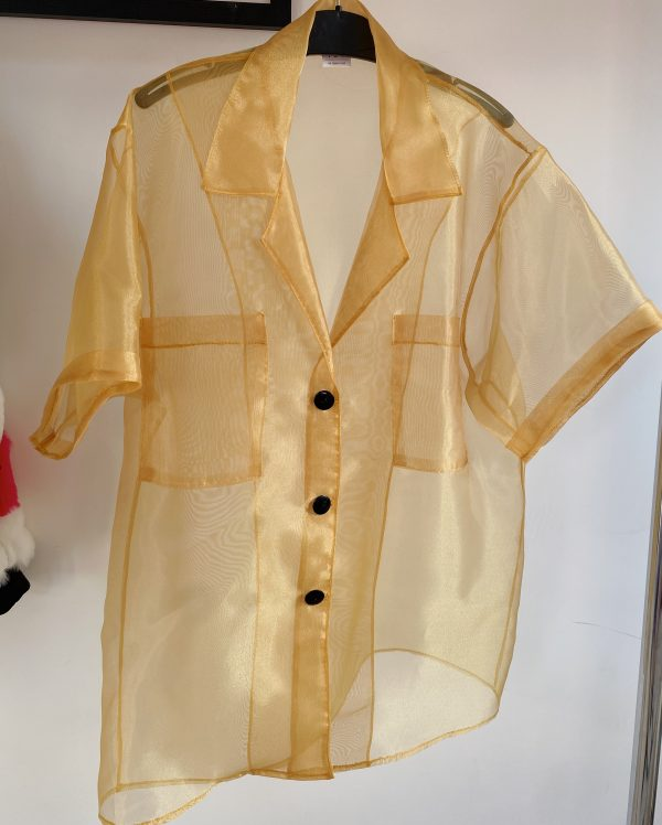 Yellow Sheer Shirt For Women