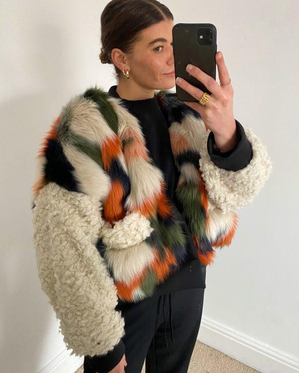 Shearling Cardigan For Women 6