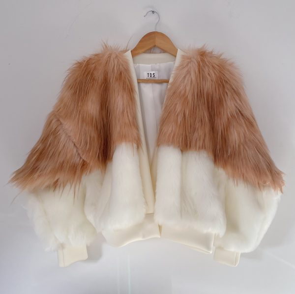 White And Brown Bomber Jacket