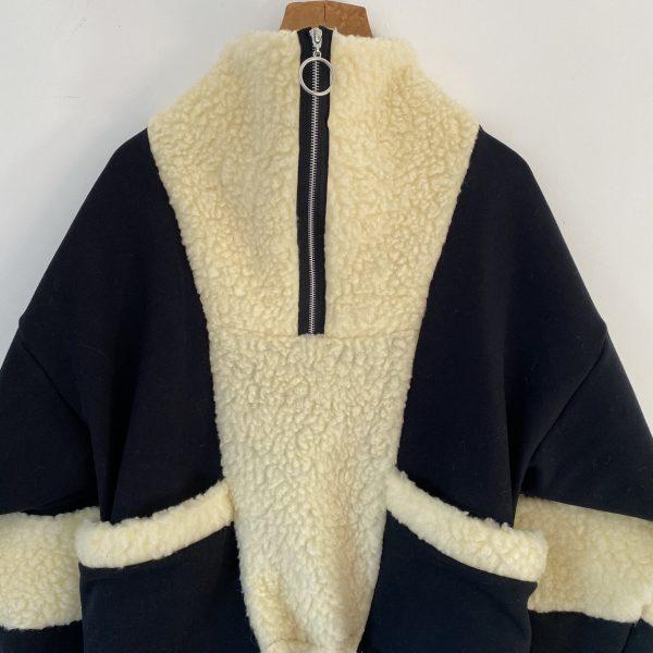 Sweatshirt With Faux Shearling