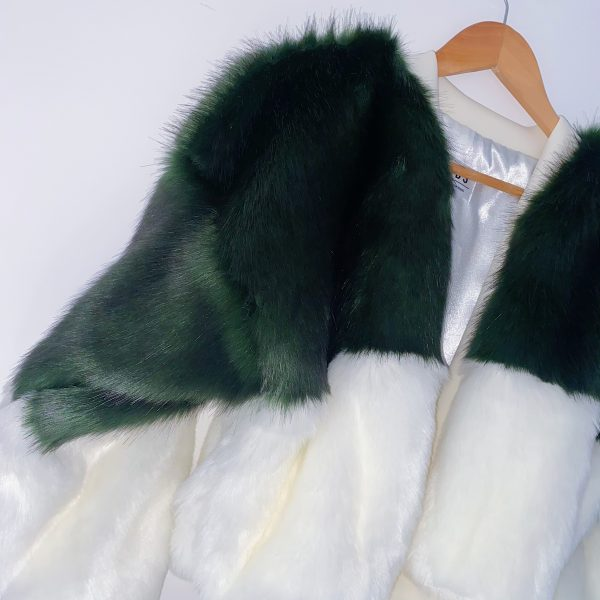 Green And White Bomber Jacket 1