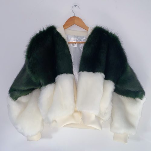 Green And White Bomber Jacket 2