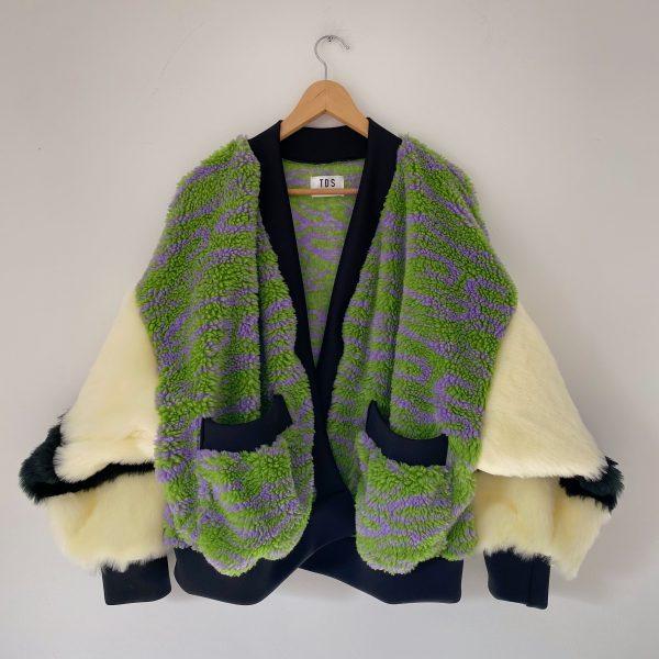 Green And Cream Cardigan